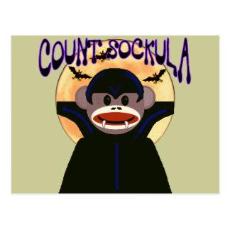 Cartão Postal Contagem Sockula do macaco da peúga