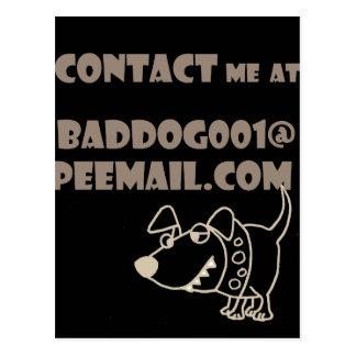 Cartão Postal Contato engraçado de Peemail do email do cão
