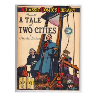 Cartão Postal Conto de duas cidades cómicas