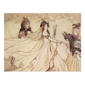 Cartão Postal Contos de fadas do vintage, Cinderella por Arthur