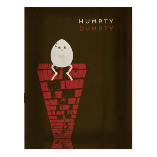 Cartão Postal Contos de fadas minimalistas | Humpty Dumpty