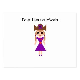 Cartão Postal Conversa como um pirata