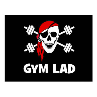 Cartão Postal Conversa como um rapaz do Gym do dia do pirata