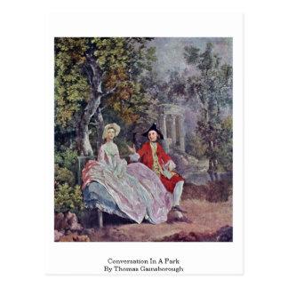 Cartão Postal Conversação em um parque por Thomas Gainsborough