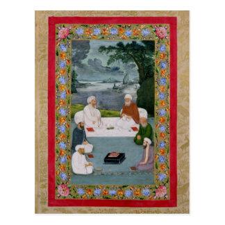 Cartão Postal Conversação Mystical entre sheikhs de Sufic