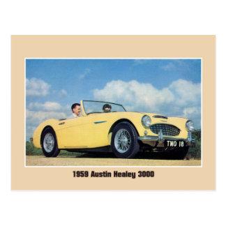 Cartão Postal Convertible britânico do carro de esportes do