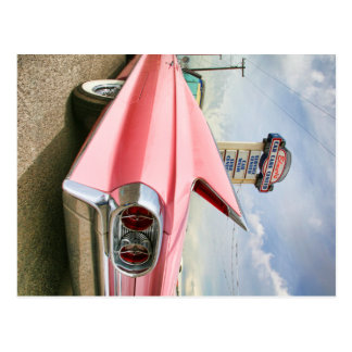 Cartão Postal convertible cor-de-rosa do cadillac 1962