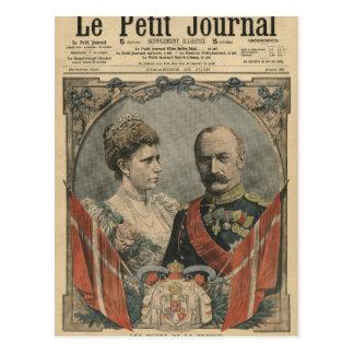 Cartão Postal Convidados de France, rei Frederick VIII e rainha