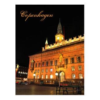 Cartão Postal Copenhaga, Dinamarca na noite