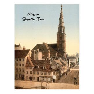 Cartão Postal Copenhaga - igreja do salvador