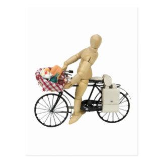 Cartão Postal Cópia BicyclePicnicBasket120509