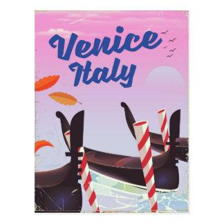 Cartão Postal Cópia das férias da gôndola de Veneza Italia