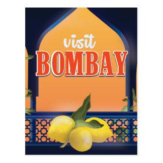 Cartão Postal Cópia das viagens vintage de Bombaim