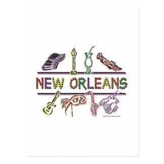 Cartão Postal Cópia dos Novo-Orleans-ÍCONES