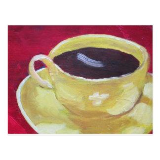 Cartão Postal Copo de café retro