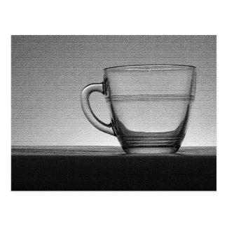 Cartão Postal Copo de vidro transparente backlit