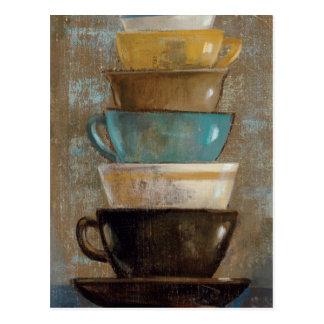 Cartão Postal Copos de café empilhados