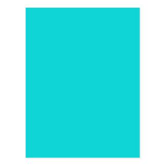 Cartão Postal Cor altruìsta inestimável do azul de turquesa