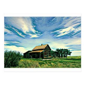 Cartão Postal Cor canadense da herdade das pradarias
