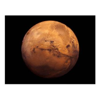 Cartão Postal Cor completa do espaço do planeta Marte