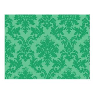 Cartão Postal Cor damasco verde