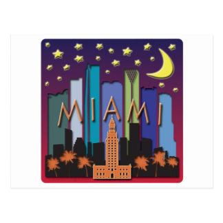 Cartão Postal Cor mega da skyline de Miami