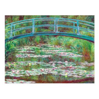 Cartão Postal Cor restaurada de Claude Monet passadiço japonês