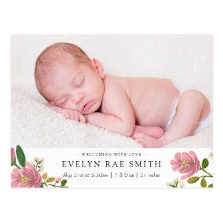Cartão Postal Cora o anúncio do nascimento do buquê