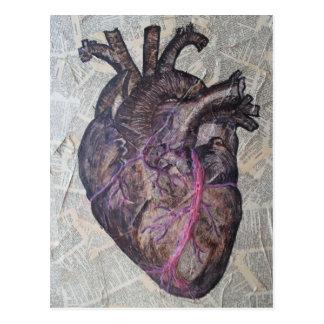 Cartão Postal Coração anatômico, pintura original