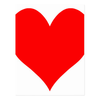 Cartão Postal Coração bonito vermelho brilhante contínuo