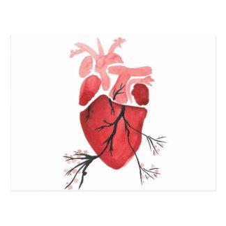 Cartão Postal Coração com ramos