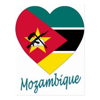 Cartão Postal Coração da bandeira de Mozambique