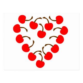 Cartão Postal Coração da cereja