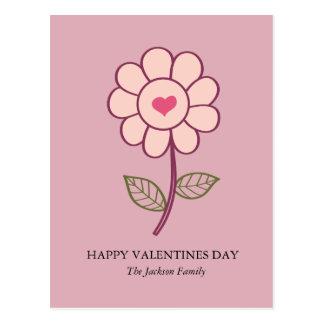 Cartão Postal coração da flor