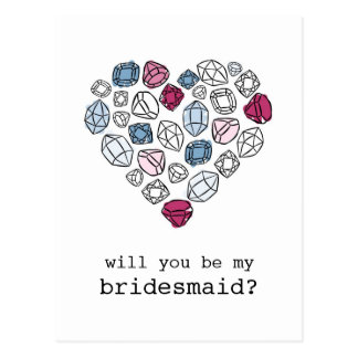 Cartão Postal coração das pedras preciosas meu vertical da dama