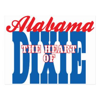 Cartão Postal Coração de Alabama de Dixie