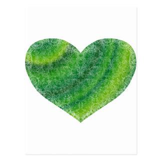 Cartão Postal Coração de brocado