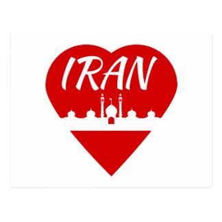 Cartão Postal Coração de Irã