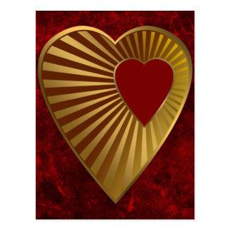 Cartão Postal Coração de ouro