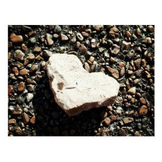 Cartão Postal Coração de pedra