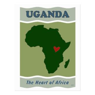 Cartão Postal Coração de Uganda de África