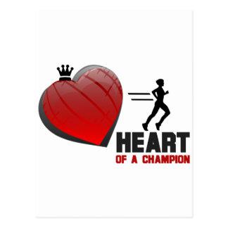 Cartão Postal Coração de um corredor do campeão