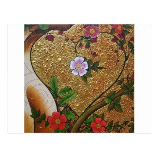 Cartão Postal Coração do amor