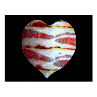 Cartão Postal Coração do amor do bacon