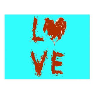 Cartão Postal Coração do amor do Grunge