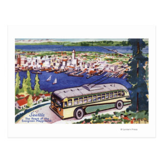 Cartão Postal Coração do campo de jogos verde