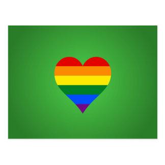 Cartão Postal Coração do orgulho de LGBT