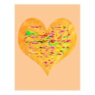 Cartão Postal Coração do ouro da luz do sol