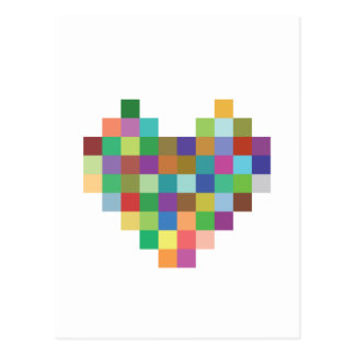 Cartão Postal Coração do pixel