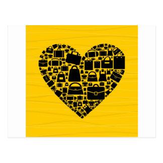 Cartão Postal Coração do saco